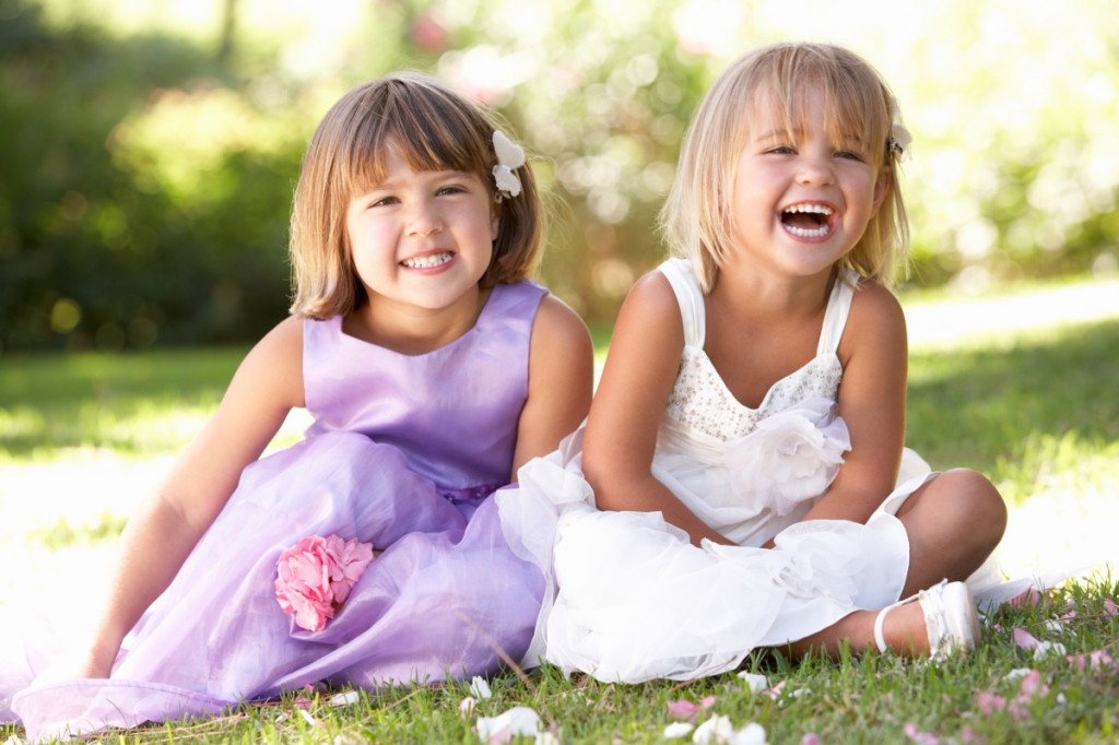 Happy Flower Girls